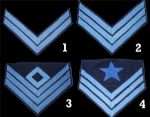 Union Infantry Insignia Chevrons, Various Ranks